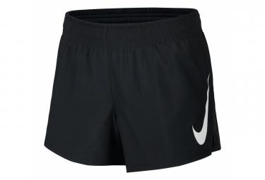 Short Nike Swoosh Run Noir Blanc Femme