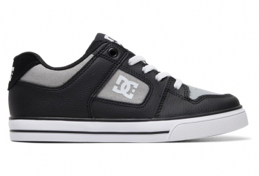 DC Shoes Pure Elastic Kids Shoes Black / Gray