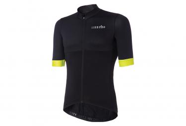 Zero rh+ Logo Short Sleeve Jersey Black Fluo Yellow