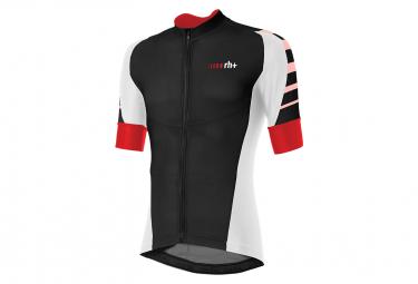Zero rh+ Code Short Sleeve Jersey Black White Red