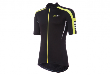 Zero rh+ Forza Short Sleeve Jersey Black Fluo Yellow