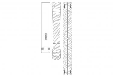 Dyedbro frame zebra frame pelicula protectora blanco