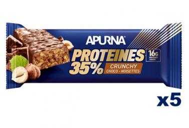 Apurna Crunchy Protein Bar Chocolate-Nuts 5x25g