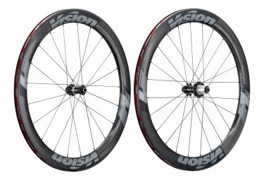 Par de ruedas sin camara vision metron 55 sl carbono carbono   9 15   12x100   9x135   12x142mm   negro shimano   sram sram
