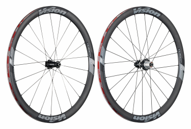 Pair of Vision Trimax Carbon wheels 40 CSi Disc Tubeless | 12x100 - 12x142mm | Black