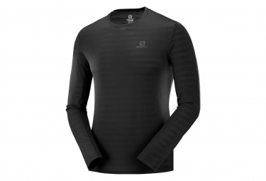 Salomon Long Sleeve Jersey XA Tee Black Men