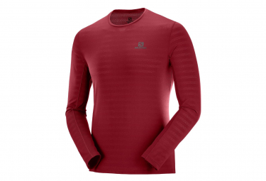Salomon Long Sleeve Jersey XA Tee Red Men