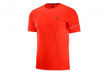 Salomon Men's Short Sleeve Jersey Red Agile