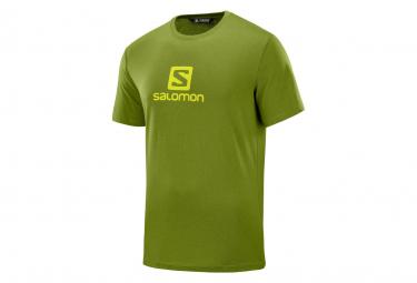 Salomon Short Sleeve Jersey Cotton Logo Green Men
