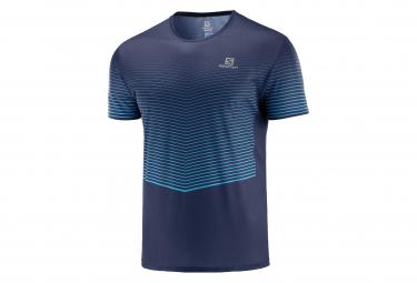 Salomon Men's Short Sleeve Jersey Sense Tee Blue