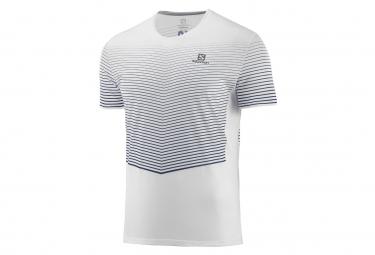 Camiseta Salomon Manga Corta Jersey Sense Blanco Azul Hombres