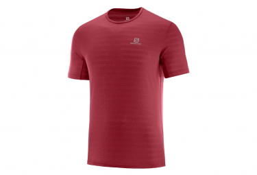 Salomon Short Sleeves Jersey XA Tee Red Men