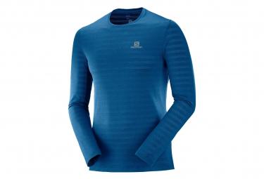 Salomon Long Sleeves Jersey XA Tee Blue Men