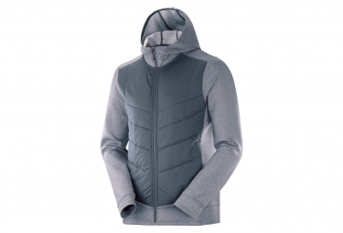Men's Salomon Hybrid Pulse Hybrid Jacket Gray