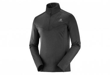 Salomon jacket 1 2 zip discovery black men m