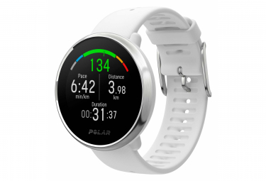 Polar Ignite GPS Watch White Silver