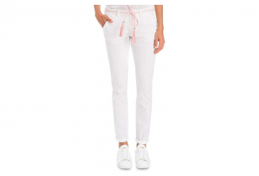 Colette Femme Pantalon Chino Skinny Blanc Salsa