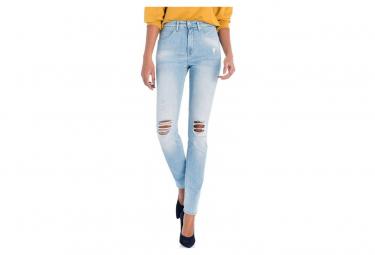 Push in Femme Jean Taille haute Bleu Salsa