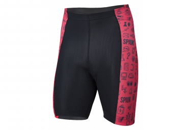 Spiuk Anatomic Kids Bibless Shorts Black Red