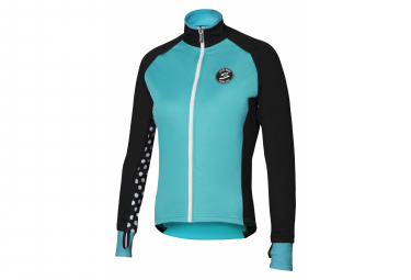 Spiuk Race Women Thermal Jacket Turquoise Black