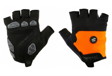 Spiuk Top Ten MTB Short Gloves Neon Orange Black