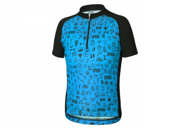 Spiuk Anatomic Kids Short Sleeve Jersey Blue Black