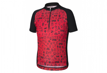 Spiuk Anatomic Kids Short Sleeve Jersey Red Black