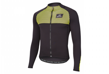 Spiuk Top Ten Long Sleeve Jersey Black Neon Yellow