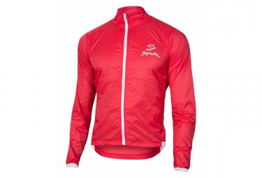 Spiuk Anatomic Windproof Windbreaker Jacket Red