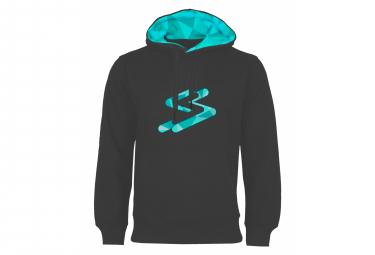 Spiuk Every Hoodie Sweatshirt Anthracite Grey Turquoise
