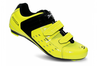 Spiuk Rodda Road Shoes Neon Yellow Black
