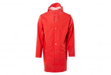Rains Long Waterproof Jacket Red