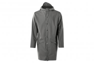 Image of Veste impermeable coupe vent rains long gris l xl