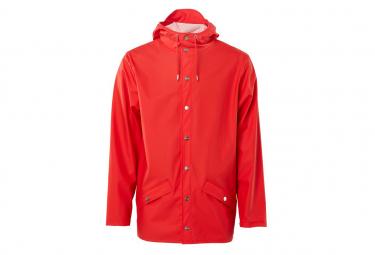 Image of Veste impermeable coupe vent rains jacket rouge l xl