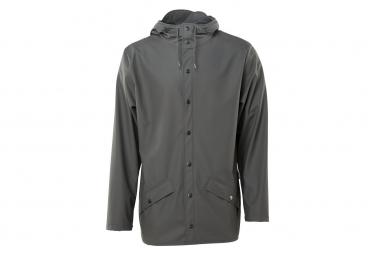 Rains Jacket Waterproof Jacket Charcoal Grey