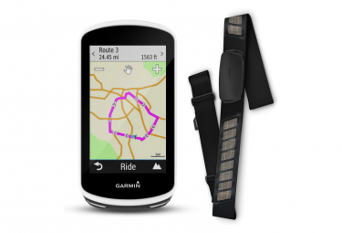 Ciclocomputador Garmin Edge 1030 HR GPS con Monitor de Frecuencia Cardíaca