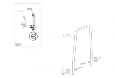 Bras de Rechange pour Porte-Vélos Thule EuroWay G2 series 920 / 921 / 922 / 923 / 9105 / 9106