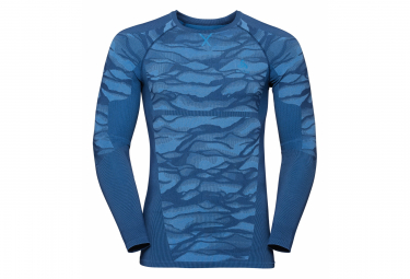 Odlo Long Sleeves Jersey Performance Blackcomb Bleu Men L