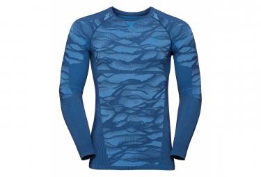 Maillot Manches Longues Odlo Performance Blackcomb Bleu