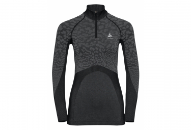 Odlo Long Sleeves Jersey 1/4 Zip Performance Blackcomb Black Grey Women