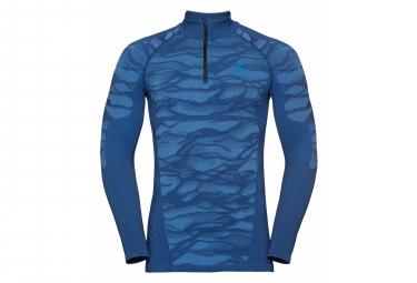 Odlo /4 Zip Performance Blackcomb Long Sleeves base layer Blue