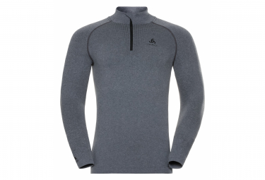 Odlo 1/4 Zip Performance Warm Long Sleeves Base layer Grey Men
