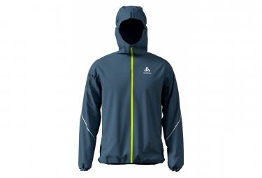 Odlo Waterproof jacket Zeroweight Rain Warm Blue Yellow Men