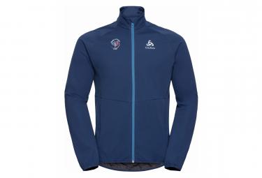 Thermal Jacket Odlo Aeolus Warm Element Warm Fan France Blue