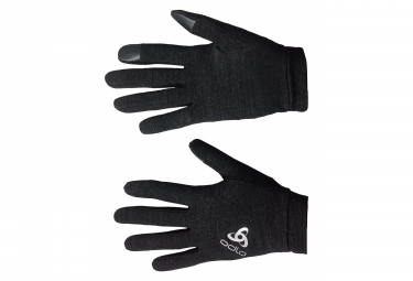 Paire de Gants Odlo Natural + Warm Noir Unisex