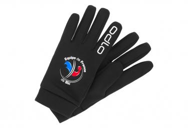 Paire de Gants Odlo Stretchfleece Liner Warm Fan France Noir Unisex