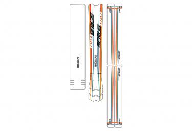 Dyedbro Frame Scrub Racing Frame Pelicula Protectora Orange Teal Blue