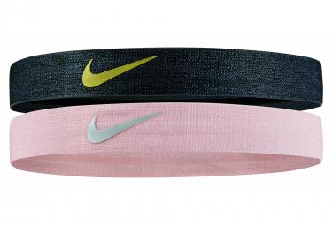 Nike Shine Headband x2 Black Pink