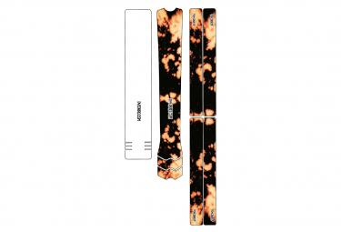 Kit de Protection Cadre Dyedbro Frame Bleach Tie Dye Noir Orange