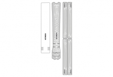 Kit de Protection Cadre Dyedbro Frame Bones Blanc